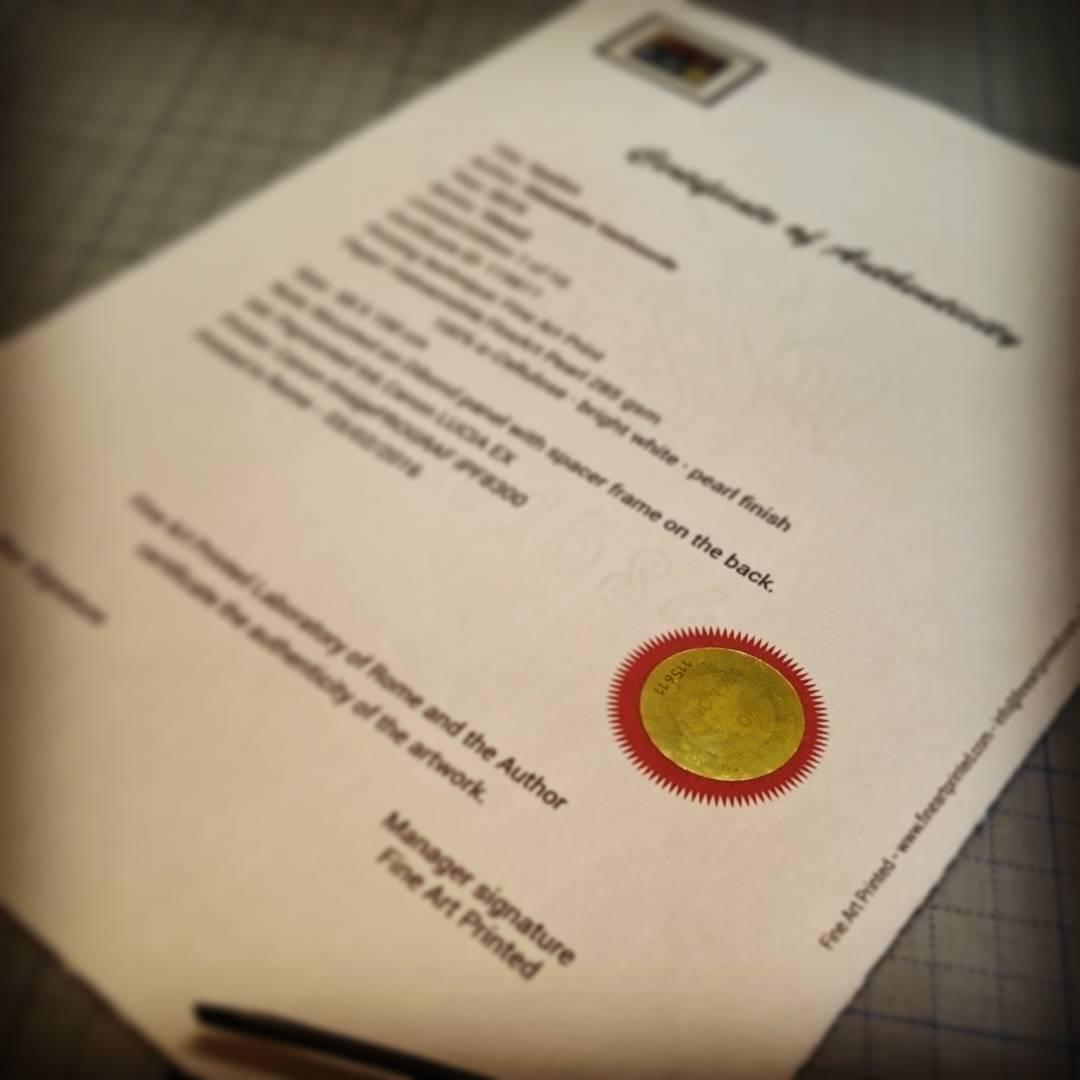 Certificazione stampe